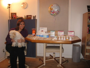 Julie with her fertility medications