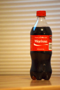 Share a Coke with Marissa.