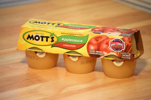 Package of applesauce.