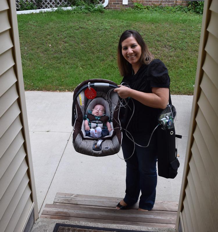 Grant and Julie on doorstep