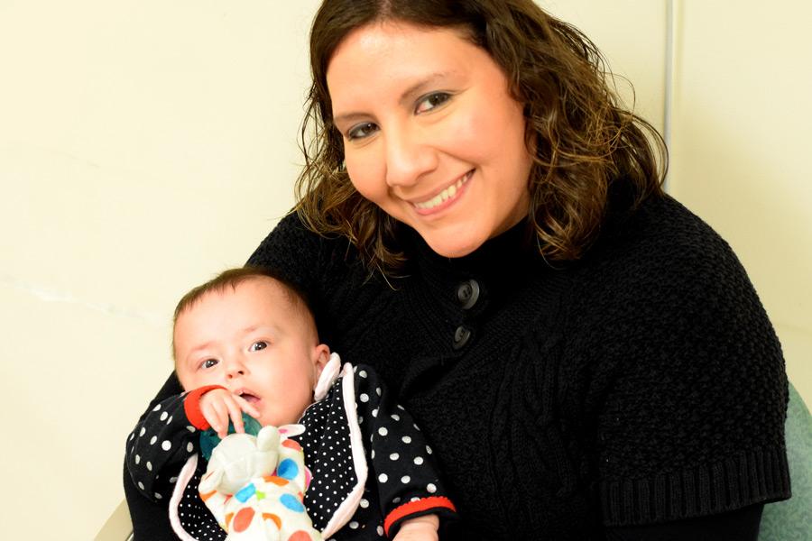 Hazel and Mommy at feeding clinic