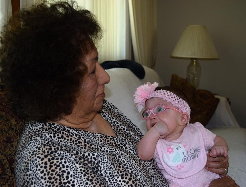 Hazel with Great Grandma
