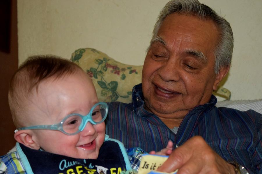 Grant with Great Grandpa